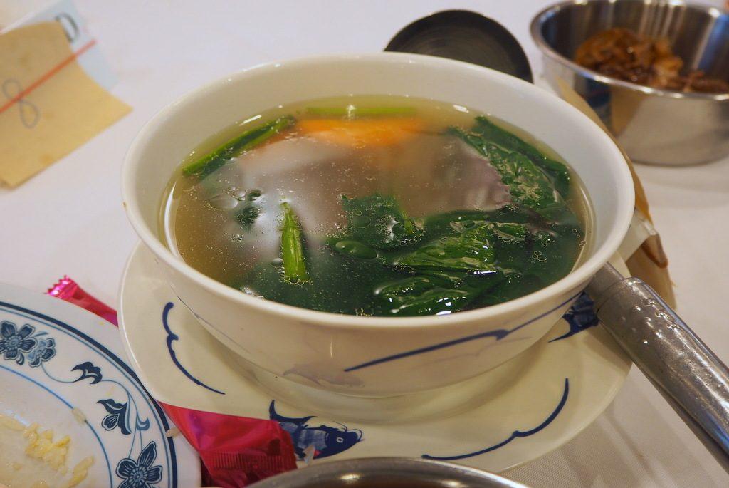 ふくろ茸入りスープ
