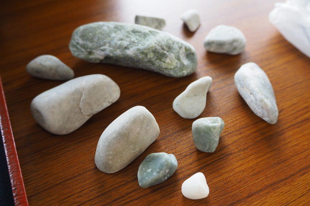 親不知海岸の石ころ